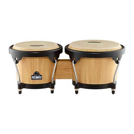 Bongos de madera Nino Percussion Nino3NT-BK