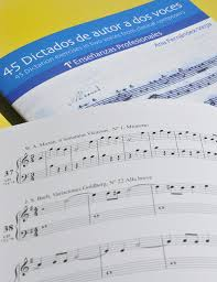 45 Dictados de autor a dos voces. 1º Profesional