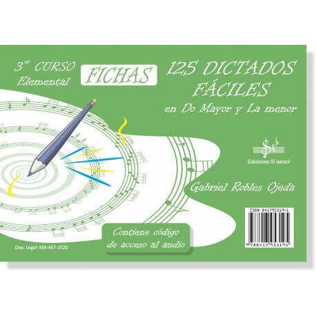 125 Dictados Muy Faciles Vol.3 LOGSE (Elemental) Audio Online