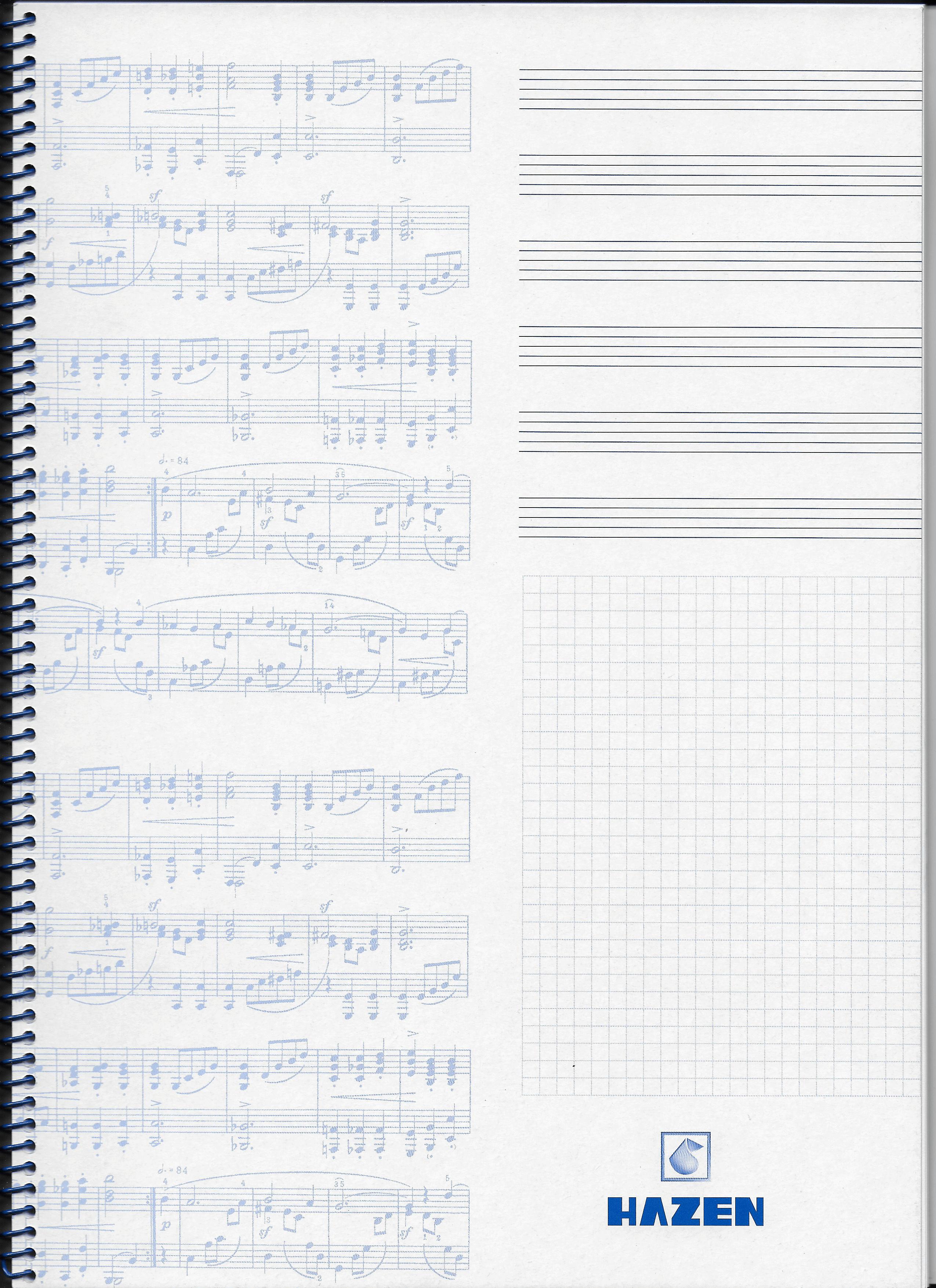 Block Hazen Vertical 1/2 6 Pautas + 1/2 Cuadricula