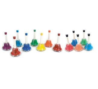 Juego 13 campanas de mano colores