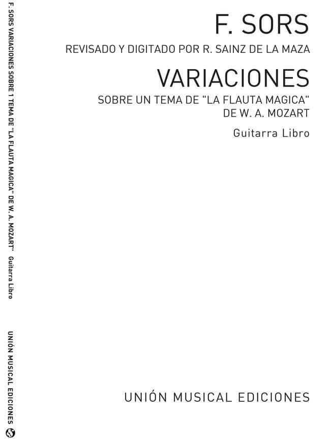 Variations On A Theme Of Mozart (Magic Flute). Guitarra. Fernando Sor