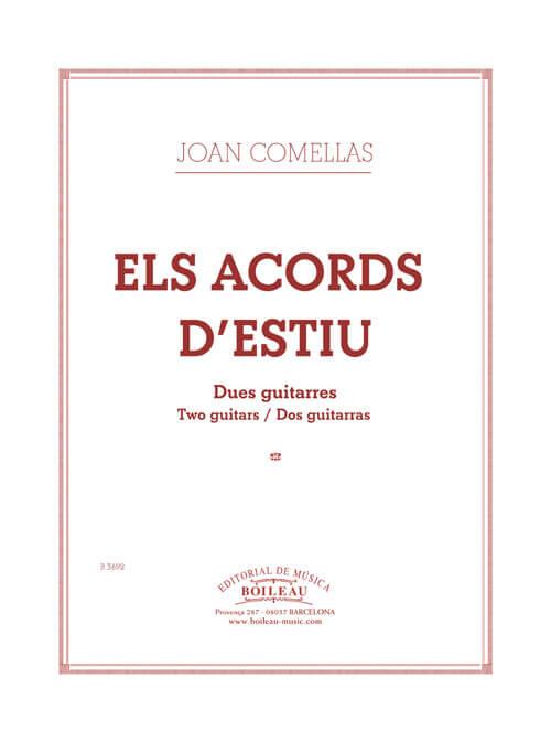 Els acords d'estiu. 2 guitarras. Joan Comellas