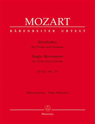 Einzelsatze for Violin and Orchestra KV261, 269 (261a), 373.