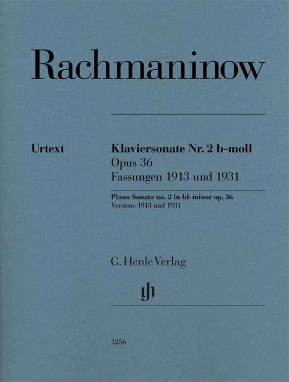 Piano Sonata no. 2 in b flat minor op. 36 .Rachmaninov