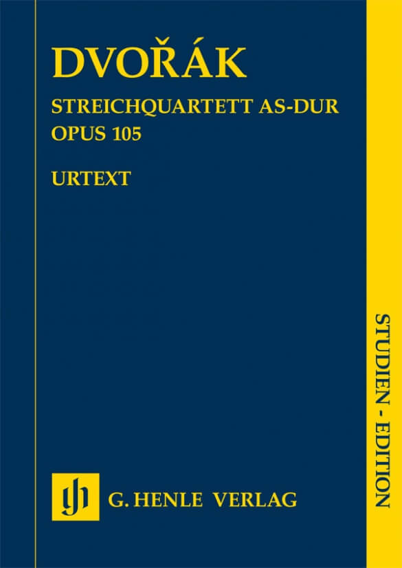 String Quartet in A flat major Op.105 SE. Dvorak Study score