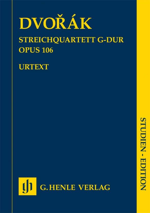 String Quartet in G major op. 106. Dvorak Study score