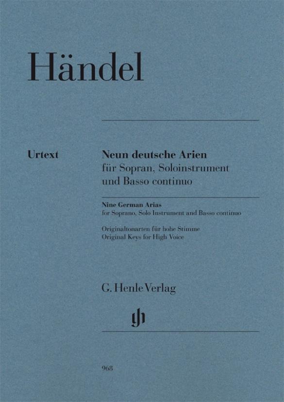 Nine German Arias for Soprano, Solo Instrument and Basso con