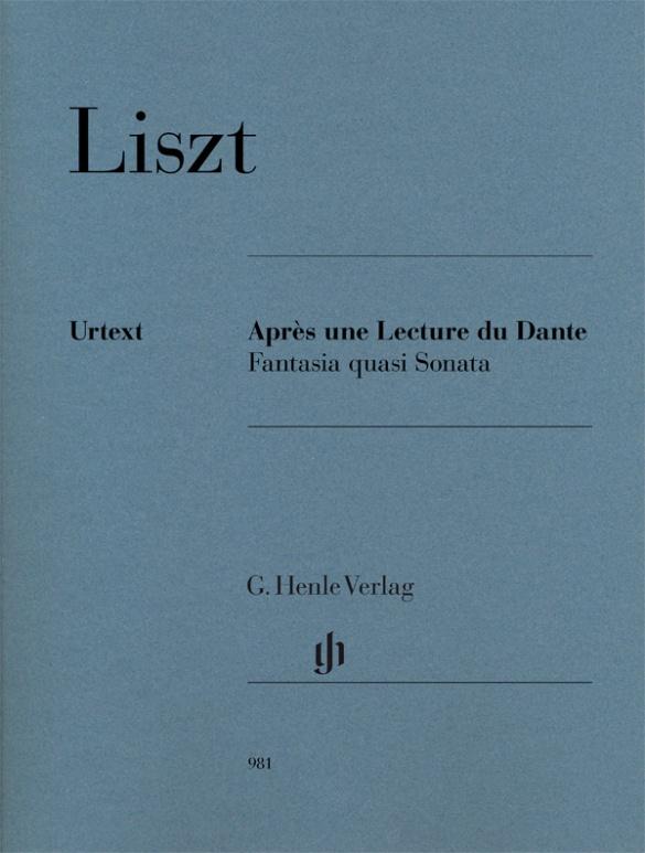 Après une Lecture de Dante Fantasia quasi Sonata. Piano. Liszt