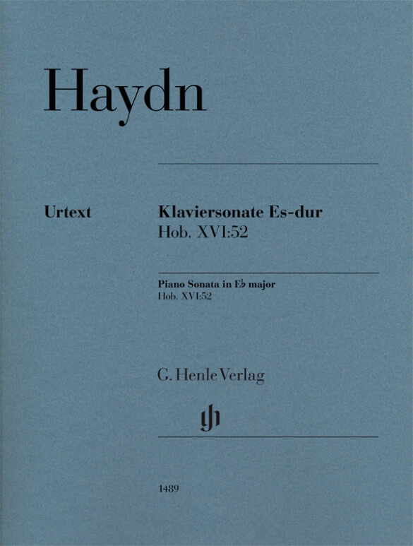Piano Sonata in E flat major Hob. XVI:52. Piano. Haydn
