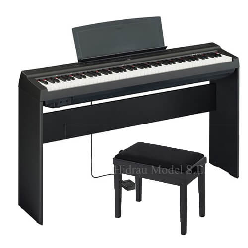 Pack Piano Digital P-125B Negro Mate + L-125B y banqueta