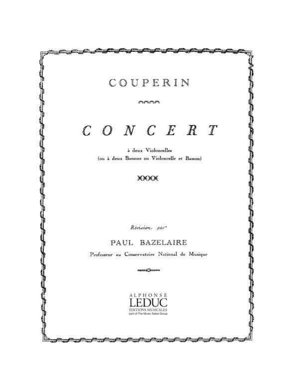 Concert in G major. 2 Violoncellos. Couperin