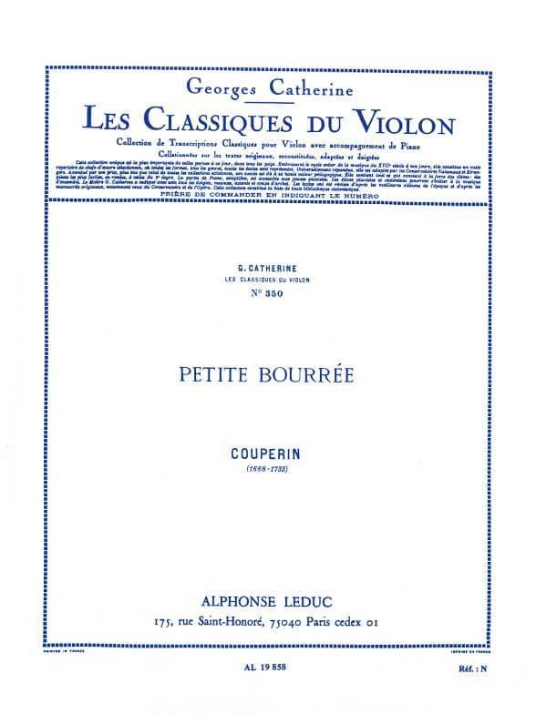 Petite Bourrée. Violín y piano. Couperin