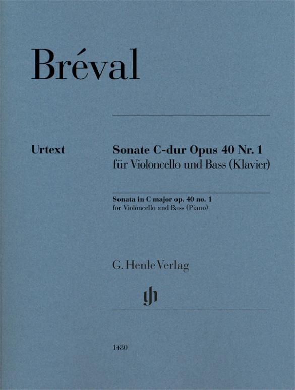 Sonate C-dur Opus 40 nº1 violoncello-Bass(Klavier) .Breval