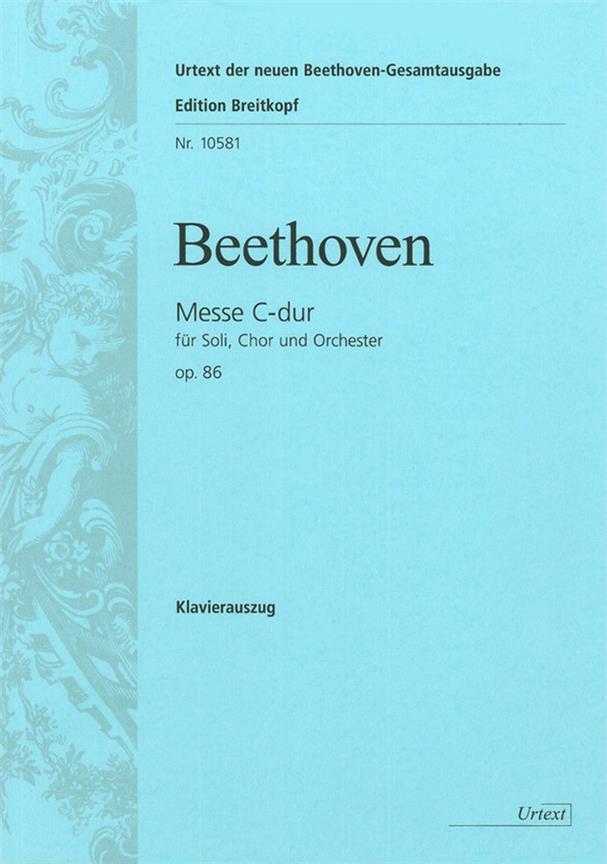 Mass C major op. 86 vocal Score .Beethoven