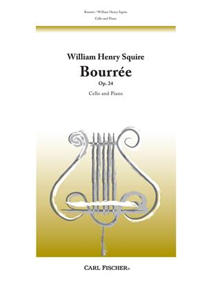 Bourrée, Op. 24 Cello and Piano .Squire