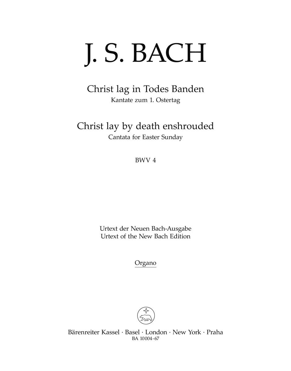 Cantata No. 4: Christ lag in Todesbanden BWV4 Parte de órgan