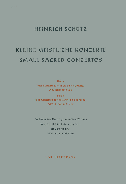 Small Sacred Concertos, Volume 8