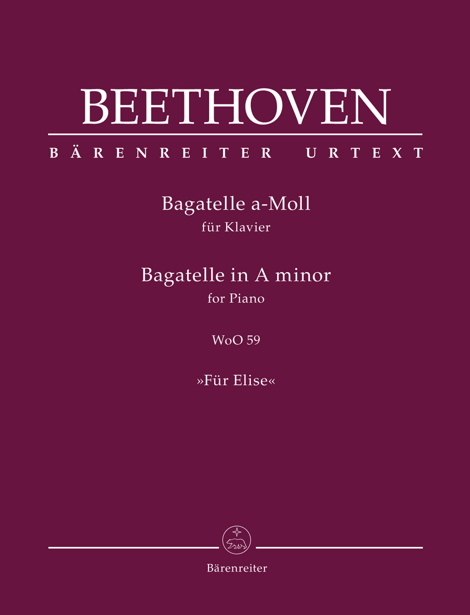 Bagatelle for Piano in A minor WoO 59 Für Elise Beethoven