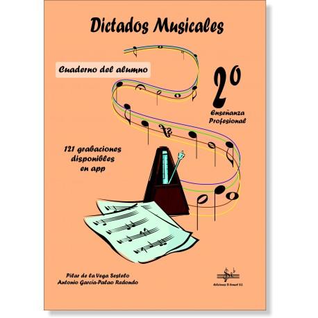 Dictados musicales 2º Grado Profesional + audio en APP .De la Vega