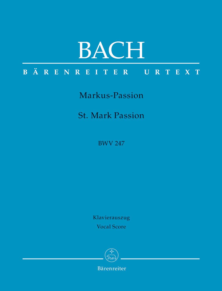 St. Mark Passion BWV247 Vocal score Bach,J.S