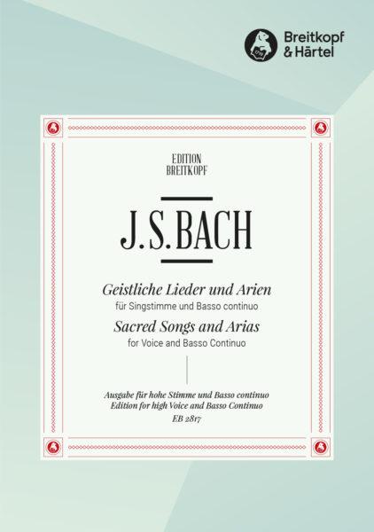 Sacred Songs and Arias. Voz aguda y piano. Bach.