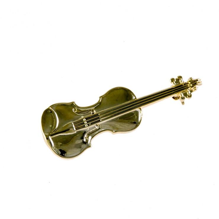 Broche dorado violín/viola