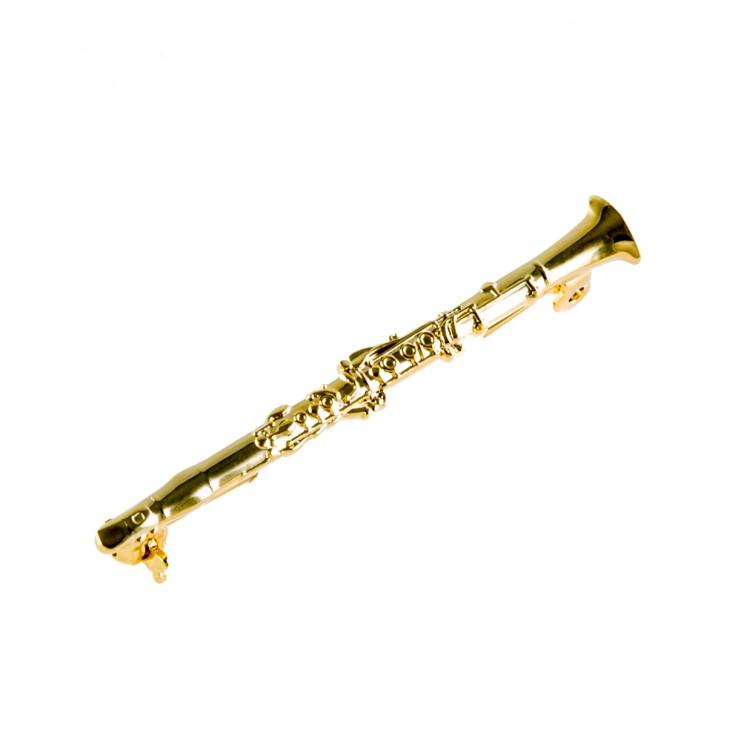 Broche dorado clarinete