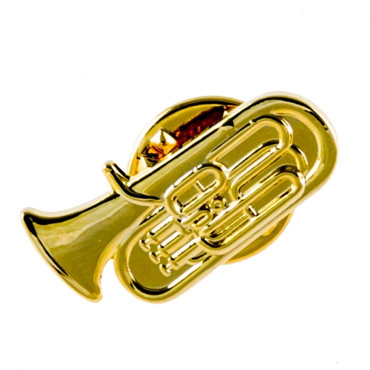 Broche dorado tuba