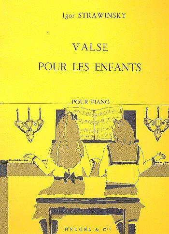 Valse Pour Les Enfants. Piano. Stravinsky.