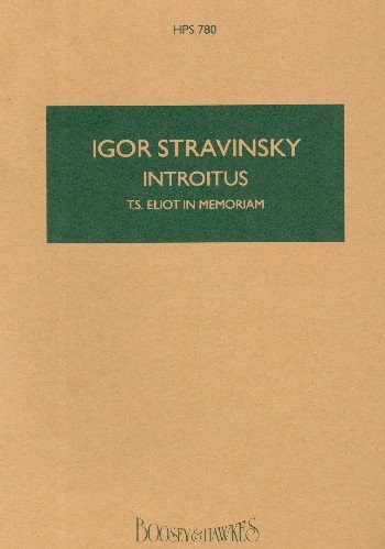 Introitus. Stravinsky. Bolsillo