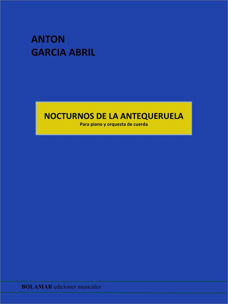 Nocturnos de la Antequeruela Full Score .Garcia Abril