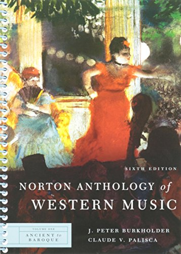 Norton Anthology Of Western Music Vol.1 Ancient to baroque