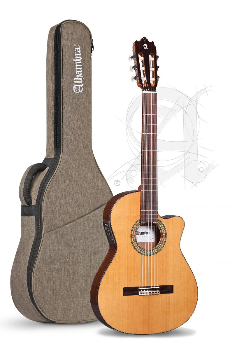 Guitarra Alhambra 3C E1 Electrif. con funda