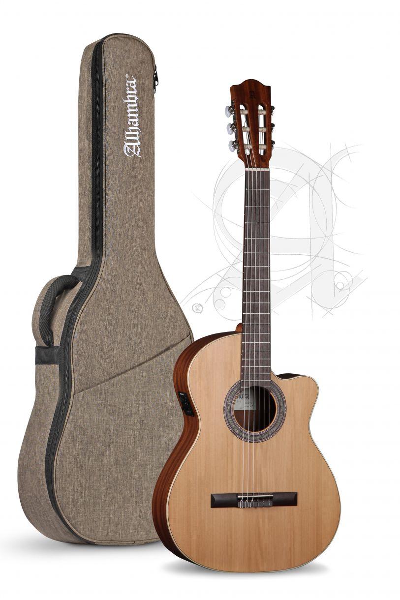 Guitarra Clasica Alhambra Z Nature Electrificada CW EZ con funda