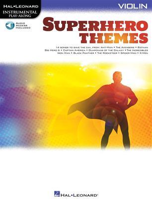 Instrumental Play-Along: Superhero Themes for  Violin