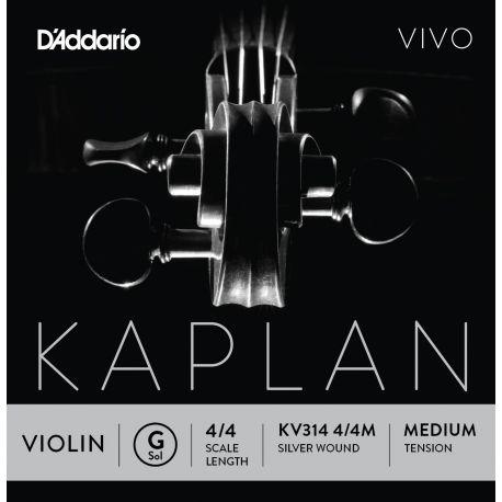 Cuerda Violín D'Addario Kaplan Vivo Kv314 Sol 4/4