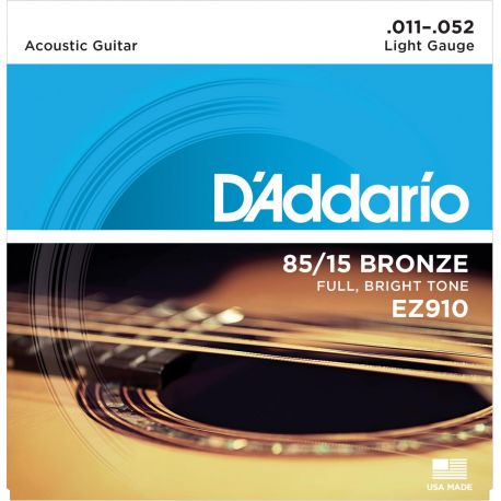 Jgo.Cuerdas Guitarra Acústica D'Addario Ez910 - 85*15 Great