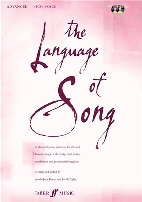 Language Of Song  High voice Book and CD