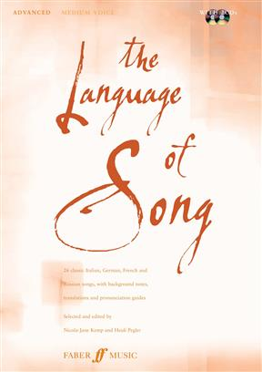 Language Of Song Medium voice Book and CD