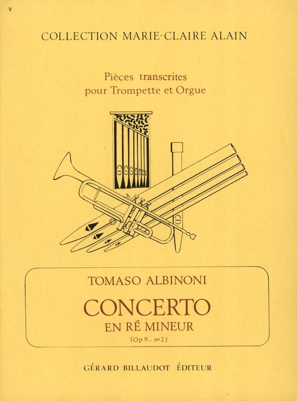 Concerto En Re Mineur Opus 9 Nø2 trompeta ,Albinoni