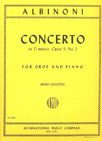 Concerto Op.9 No.2 hautbois-piano .Albinoni
