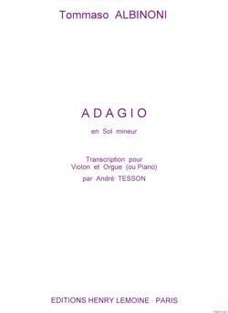 Adagio G Violin- Piano (Org) .Albinoni
