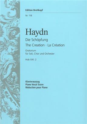 The Creation Hob XXI: 2 vocal score .Haydn(Deutsch/English/Francais)
