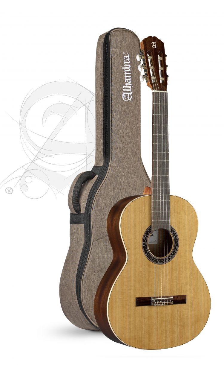 Guitarra Clasica Alhambra 1C Hybrid Terra Española con funda