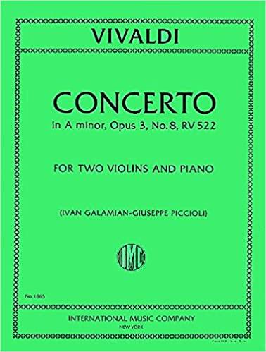Concerto A minor Op. 3 No. 8 'Con due Violini obligati', RV . Vivaldi