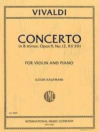 Violin Concerto B minor op.9/12 RV391.. Vivaldi