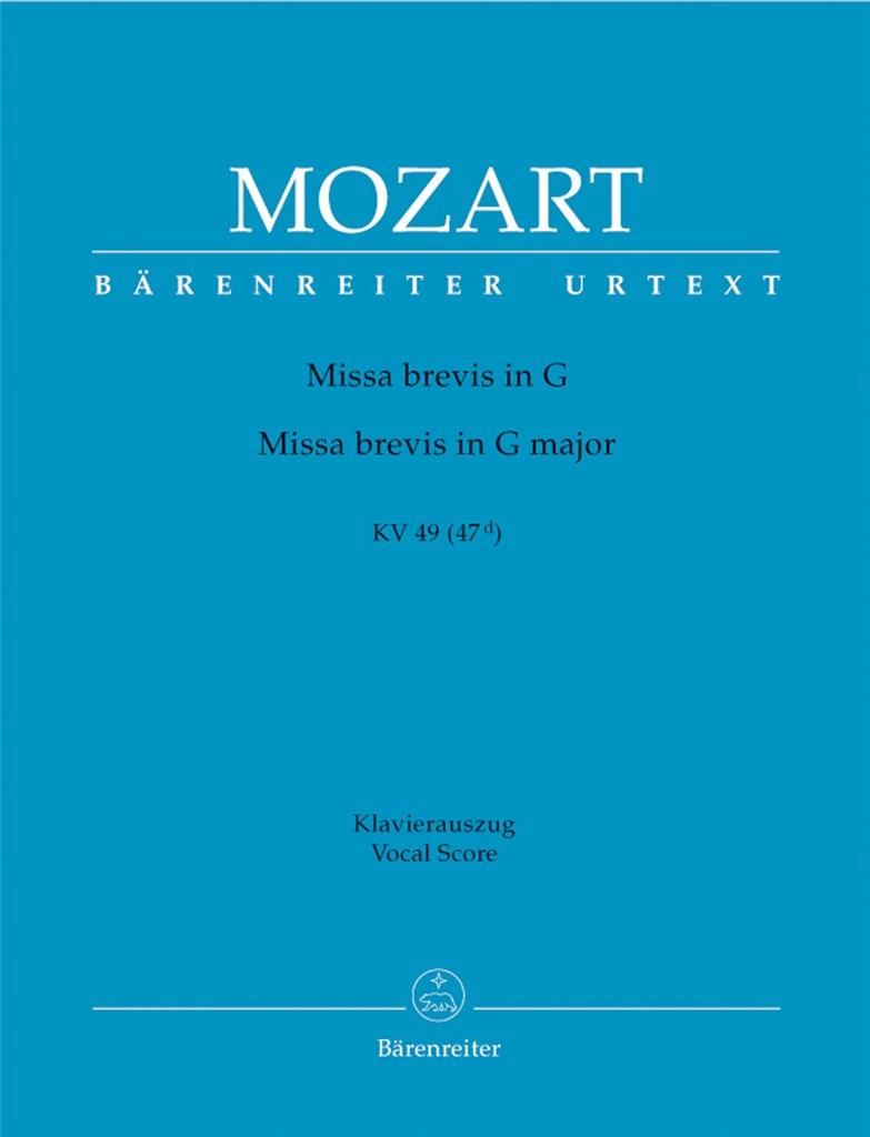Missa brevis G major KV49 (47 d).