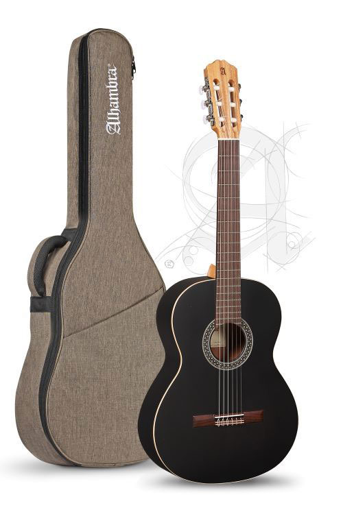 Guitarra Clásica Alhambra 1C Black Satin con funda