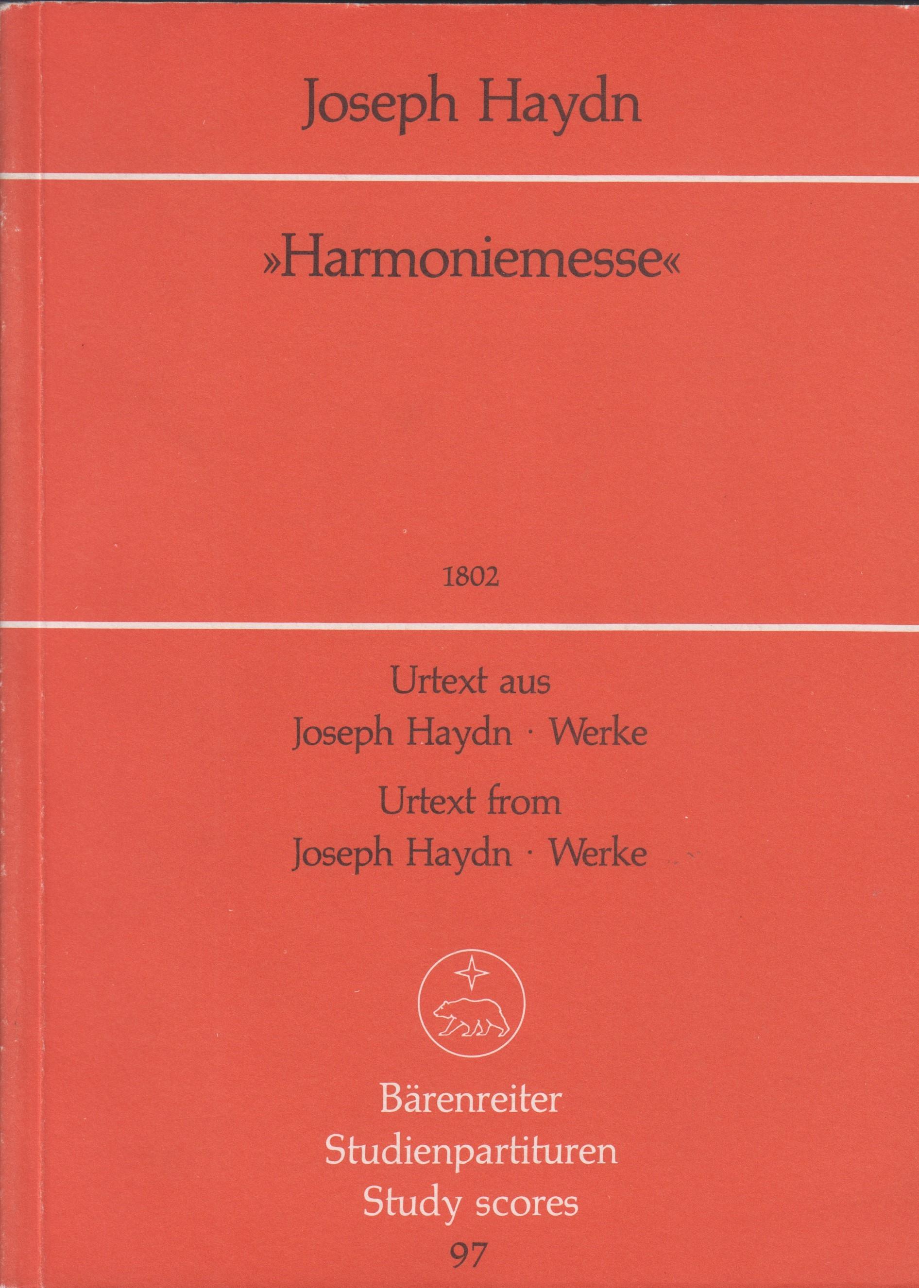 Missa B flat major Hob.XXII:14. Haydn. Study Score